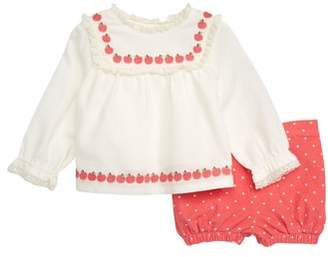 Boden Mini Pretty Woven Top & Bloomers Set
