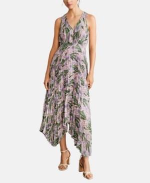 MANGO Pleated Midi Dress