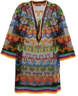 0ec96f0c16367 Missoni Mare - Embroidered Multicoloured Kaftan - Womens - Black Multi