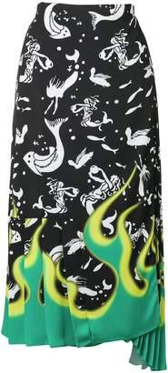 Prada printed midi skirt