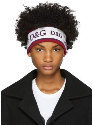 Dolce & Gabbana White and Purple Logo Headband