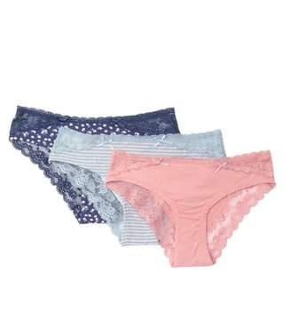 Honeydew Intimates Rayon Lace Bikini - Pack of 3