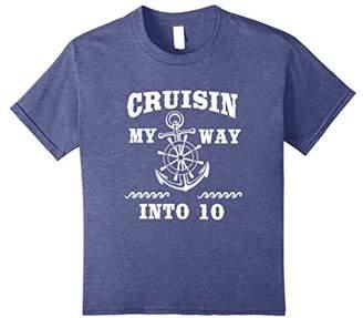 Funny 10th Birthday T-Shirt Cruisin my way into 10 Bday Gift