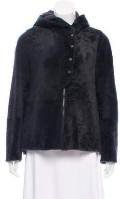 Brunello Cucinelli Shearling Hooded Jacket