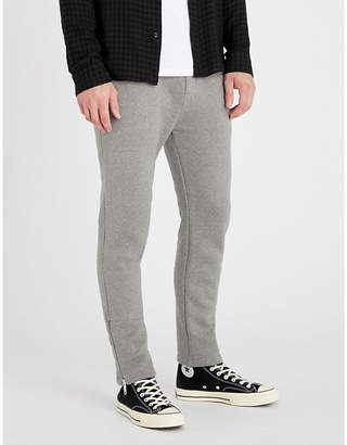 The Kooples Zipped-cuff tapered cotton jogging bottoms