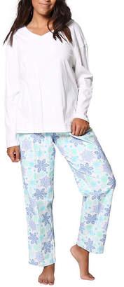 La Cera Knitted Flannel Pajama Set