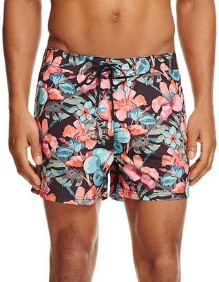 SUNDEK Floral Print Low Rise Board Shorts $125 thestylecure.com