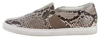 Lanvin Snakeskin Slip-On Sneakers