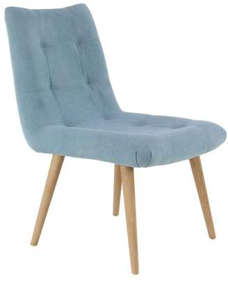 Brimfield & May Modern Fabric-Covered Tufted Wooden Dining Chair