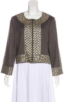 Oscar de la Renta Embellished Camel Jacket