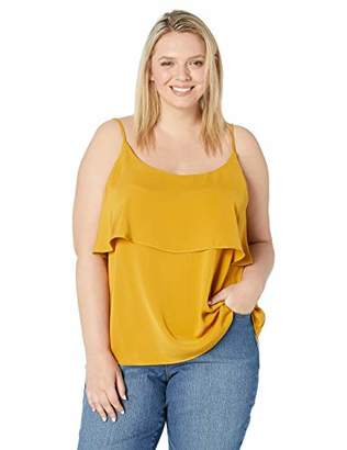 City Chic Women's Apparel Women's Plus Size Solid Strappy cami, XL