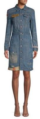 Polo Ralph Lauren Embroidered Denim Shirtdress