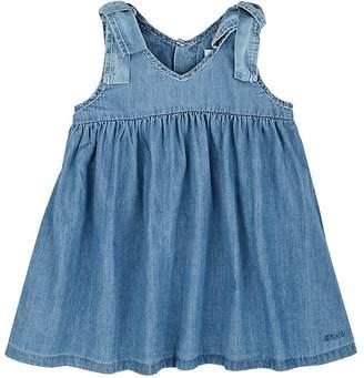 Chloé INFANTS' COTTON CHAMBRAY DRESS