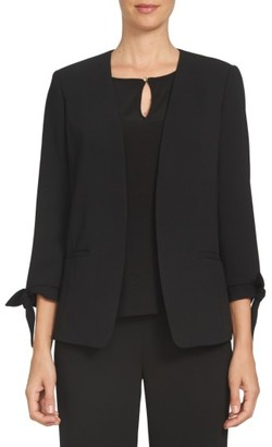 Women's Cece Tie Sleeve Open Front Blazer $139 thestylecure.com