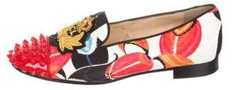 Christian Louboutin Embellished Patterned Loafers