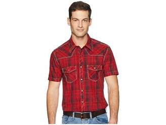 Rock and Roll Cowboy Short Sleeve Snap Plaid B1S4111 Men's Clothing