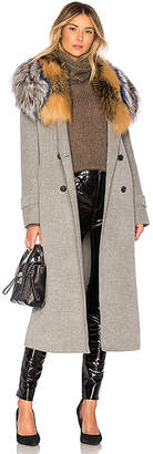 Mackage Blair Coat With Fur Collar