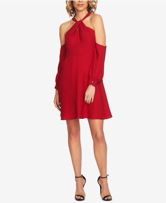 CeCe Cold-Shoulder Fit & Flare Dress