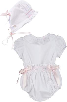 Luli & Me White 2pc-Bubble & Bonnet-Set