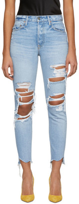 GRLFRND Blue Distressed Karolina Jeans