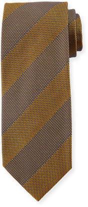 Tom Ford Wide Textured Stripe Silk Tie