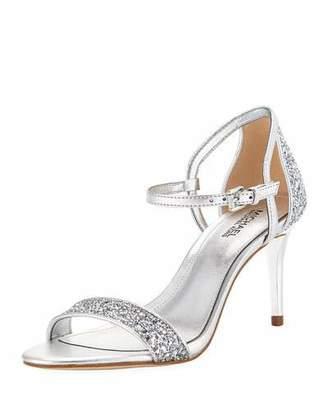 MICHAEL Michael Kors Simone Metallic Mid-Heel Sandals