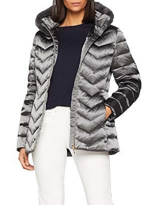 Geox W CHLOO Mid lenght down jacket with detachable eco fur