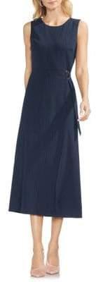 Vince Camuto Sapphire Bloom Pinstripe Dress