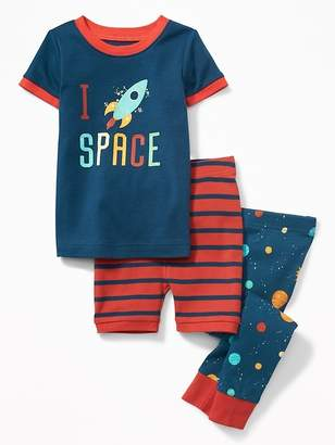 """Old Navy """"I (Rocket Heart) Space"""" 3-Piece Sleep Set for Toddler & Baby"""