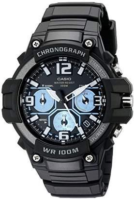 Casio Men's MCW-100H-1A2VCF Heavy Duty-Design Chronograph Black Watch