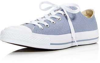 Converse Chuck Taylor All Star Ox Perforated Canvas Low Top Lace Up Sneakers
