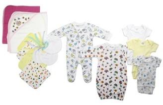 Bambini Newborn Baby Girls 14 Pc Layette Baby Shower Gift Set