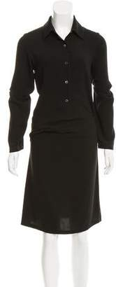 Ann Demeulemeester Long Sleeve Collared Dress