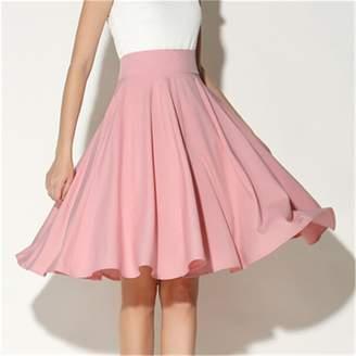 at Amazon Canada · DUJUANNIAO Skirts DUJUANNIAO Women High Waist Petticoat  Knee Length Vintage Midi Skirt Pleated Soft Silk Pure 41e3992967