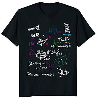 Fun Math Mathematics Formulas Big Bang School Board T-Shirt