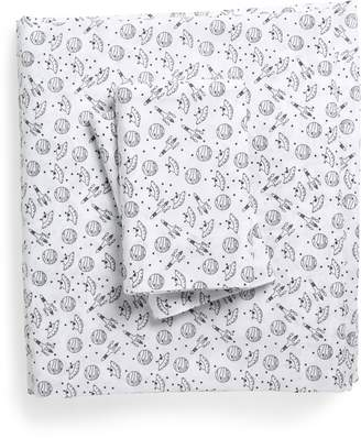 Under One Sky Print Cotton Full Sheet Set
