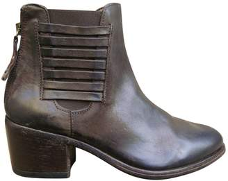 Moma Brown Leather Ankle boots