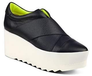 KENDALL + KYLIE Women's Tasha Platform Wedge Slip-On Sneakers