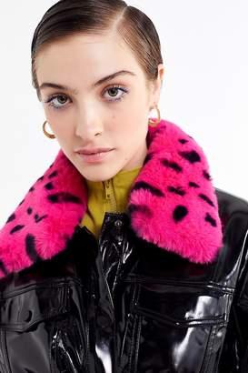 Lazy Oaf Vinyl Faux Fur Collar Jacket