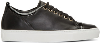 Lanvin Black Leather Sneakers $625 thestylecure.com