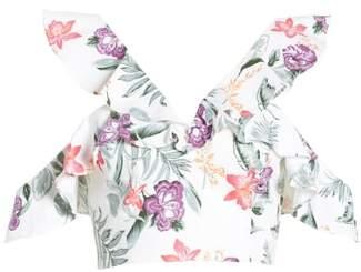 WAYF Floral Crop Top