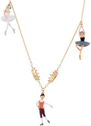 Les Nereides N2 by White Ball Black and White Swans Ballerinas and Prince Necklace - Multicolor