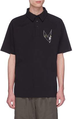 Rochambeau x Aaron Curry graphic embroidered jersey polo shirt