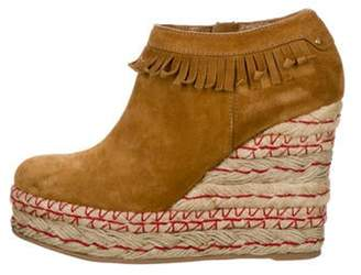 Sergio Rossi Suede Round-Toe Ankle Boots Suede Round-Toe Ankle Boots