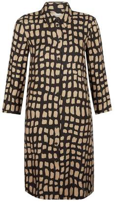 Hobbs Womens Black/Gold Aubery Dress - Black