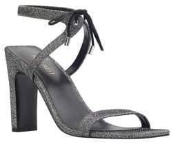 Nine West Longitano Shimmer Fabric Sandals