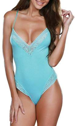 Dreamgirl Soft Lace Trim Teddy