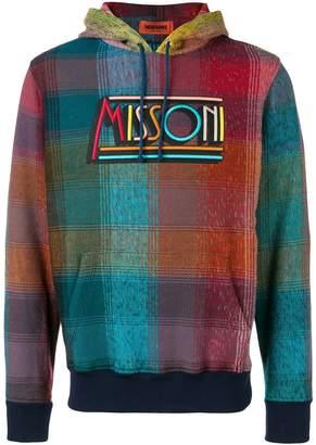 Missoni checked logo hoodie