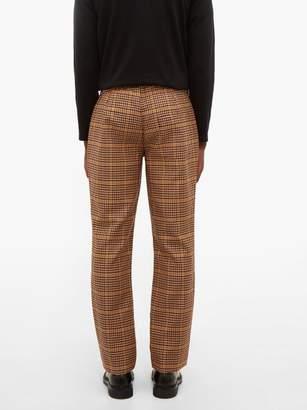 Schnaydermans Schnayderman's - Houndstooth Checked Twill Trousers - Mens - Brown Multi