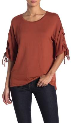 GOOD LUCK GEM Lace-Up Sleeve Dolman Tee